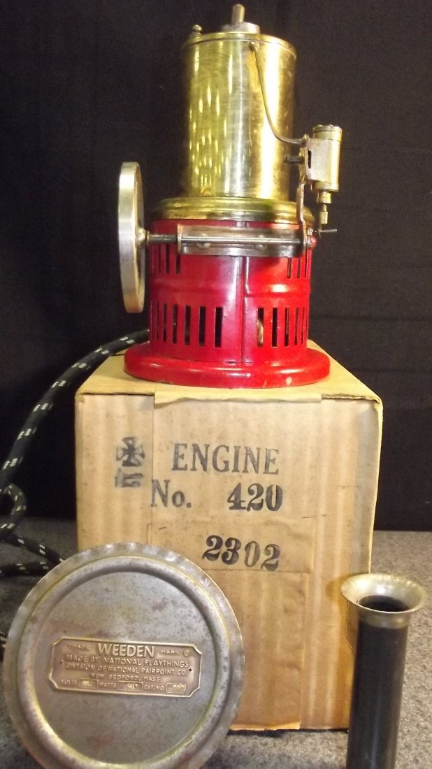 ANTIQUE TOY STEAM ENGINE NO. 420 W/ORIG BOX