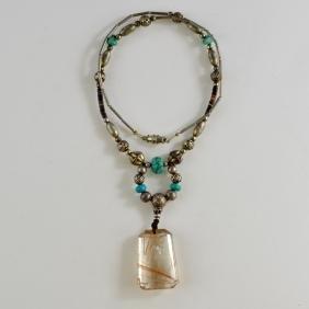 Rutilated Quartz Pendant Necklace