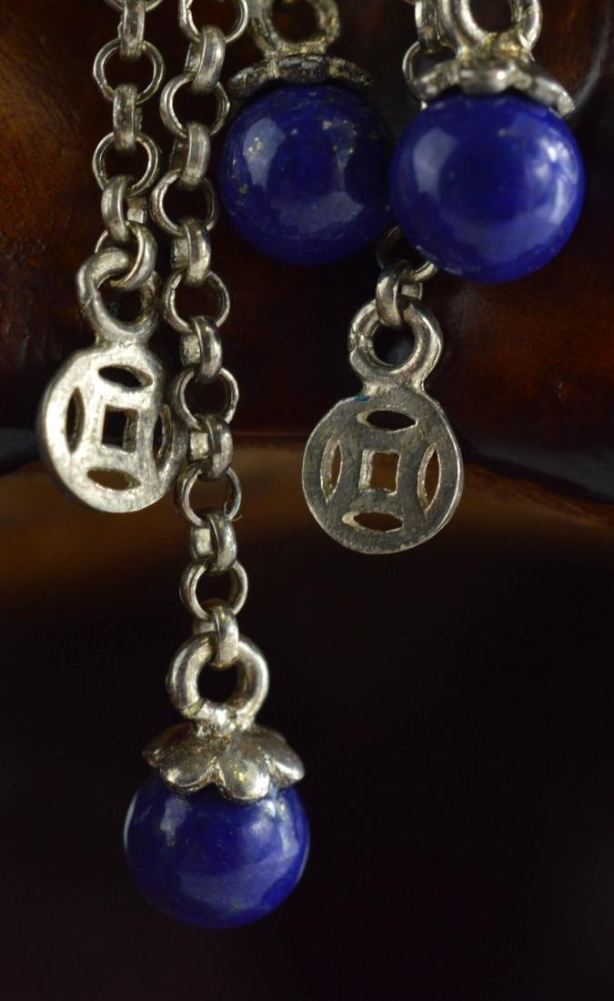 Cloisonne Lapis Lazuli pendant Necklace - 4