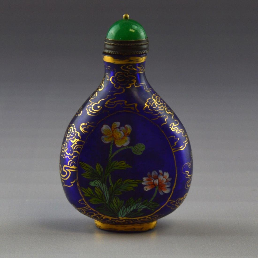 Blue Liuli Snuff Bottle