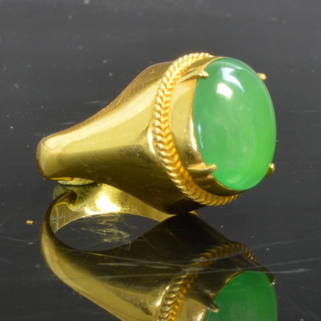 Certified Natural Burma Jadeite Ring