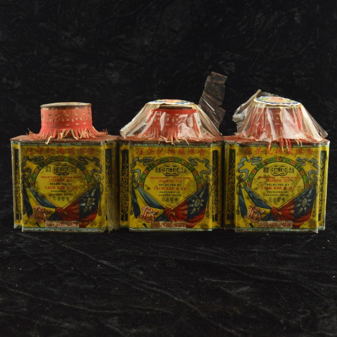 Three Chinese Republican Tea Tins - 3