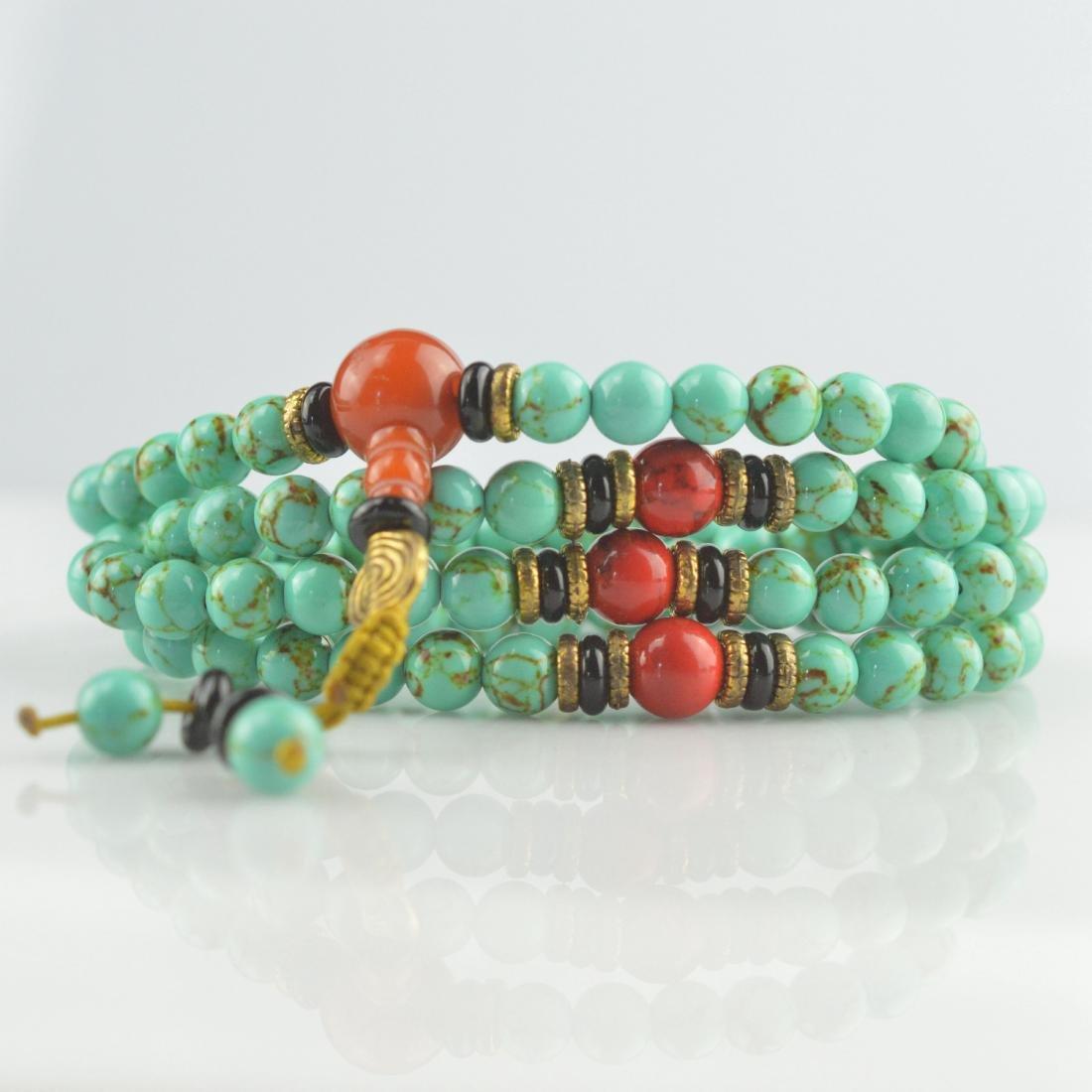 Turquoise Bead Prayer Necklace