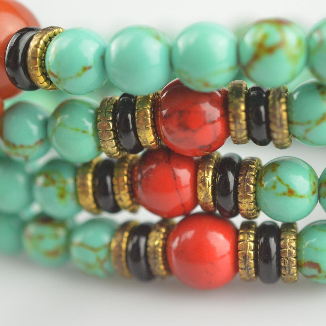 Turquoise Bead Prayer Necklace - 2