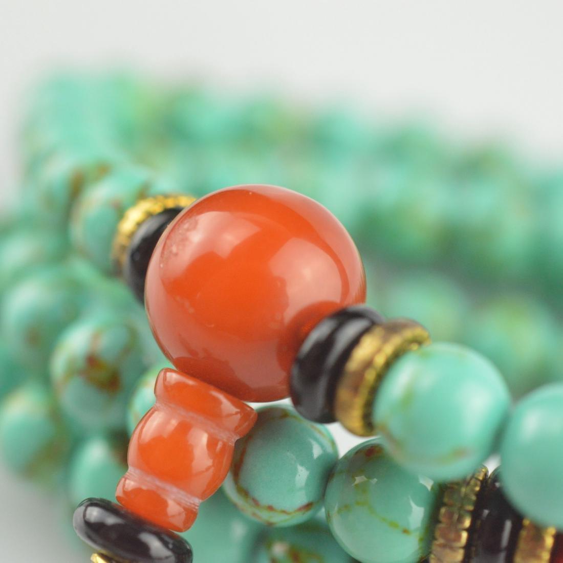 Turquoise Bead Prayer Necklace - 3