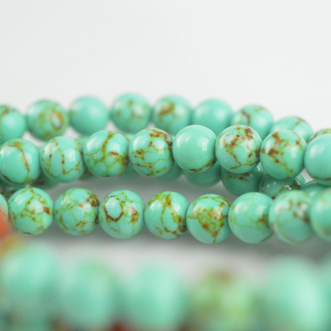 Turquoise Bead Prayer Necklace - 5