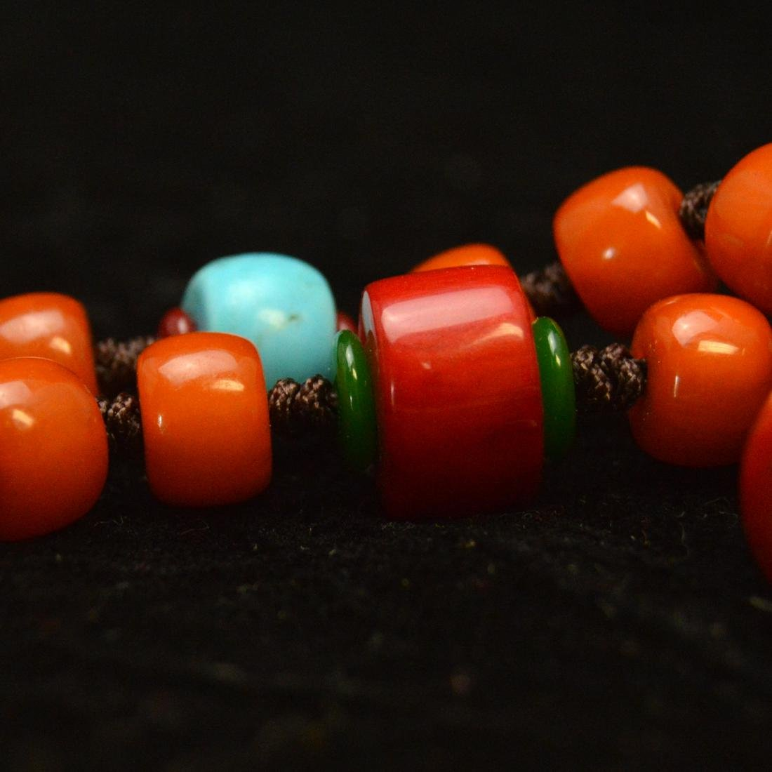 Tibetan Royal Amber Bead Necklace - 4
