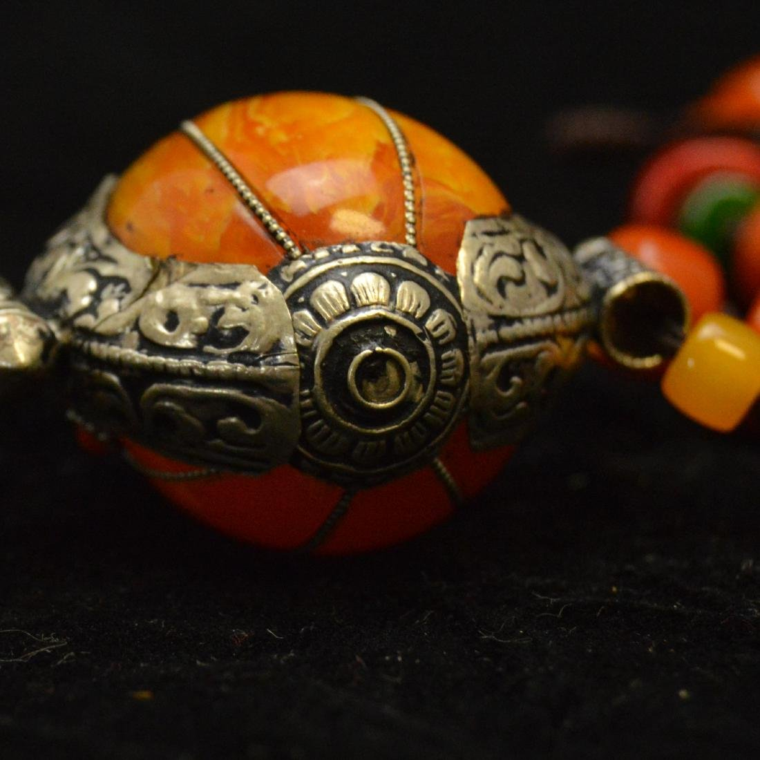 Tibetan Royal Amber Bead Necklace - 7