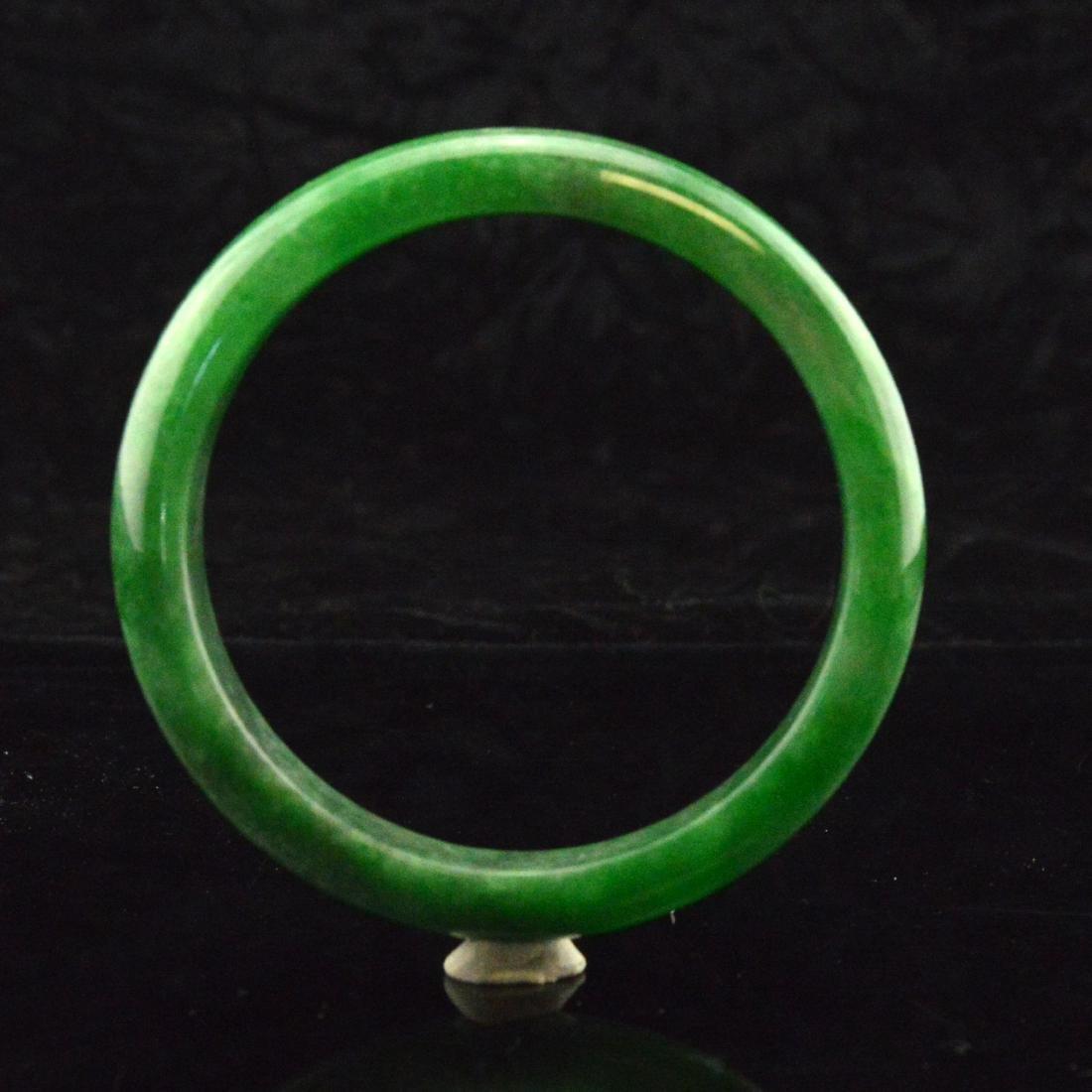 Green Jadeite Bangle Bracelet