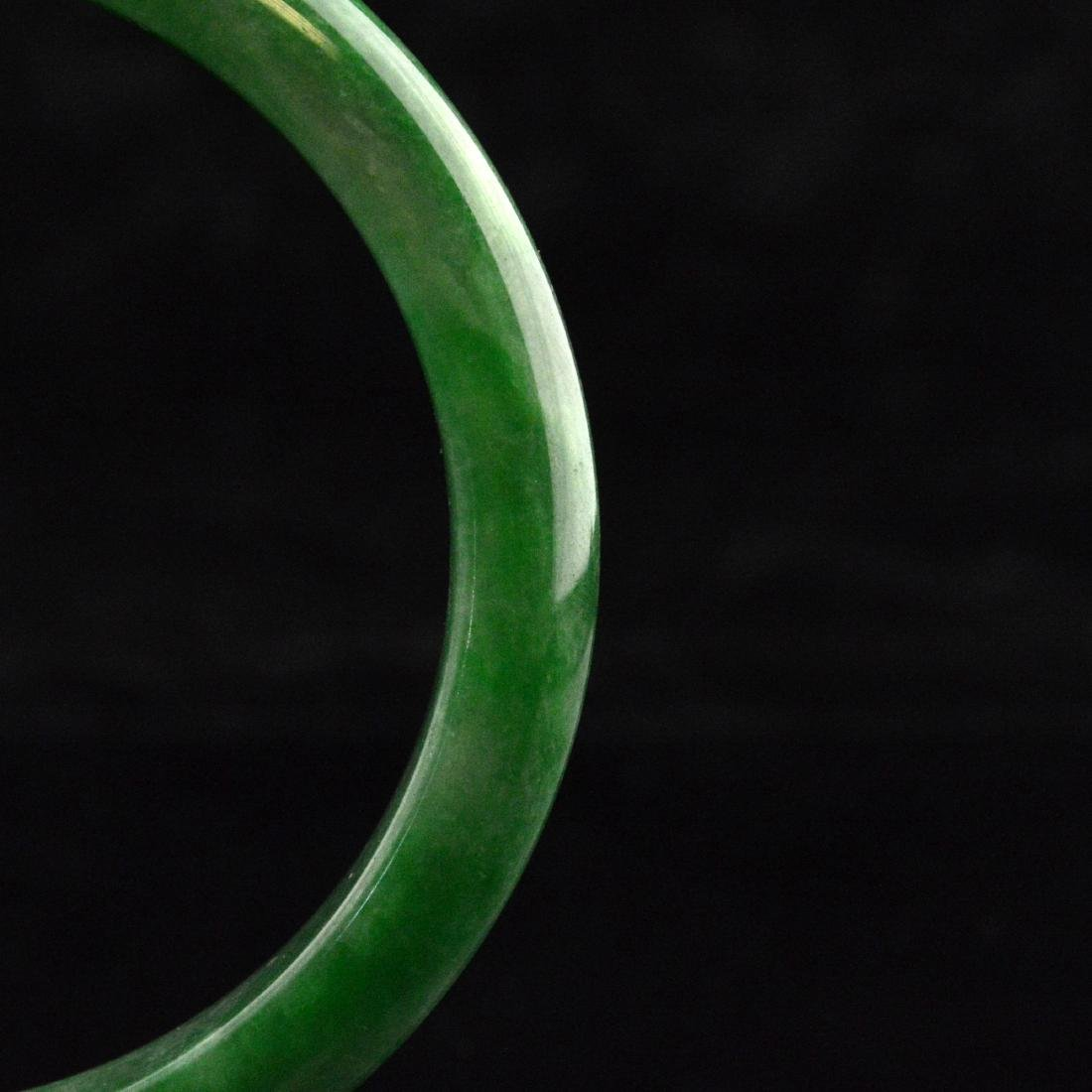 Green Jadeite Bangle Bracelet - 3