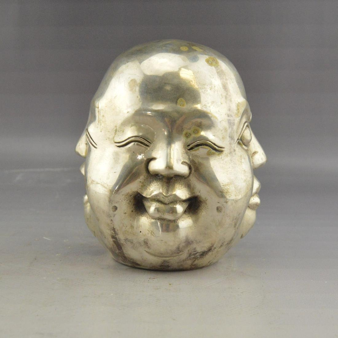 White Bronze Four-Faced Emotional Statue