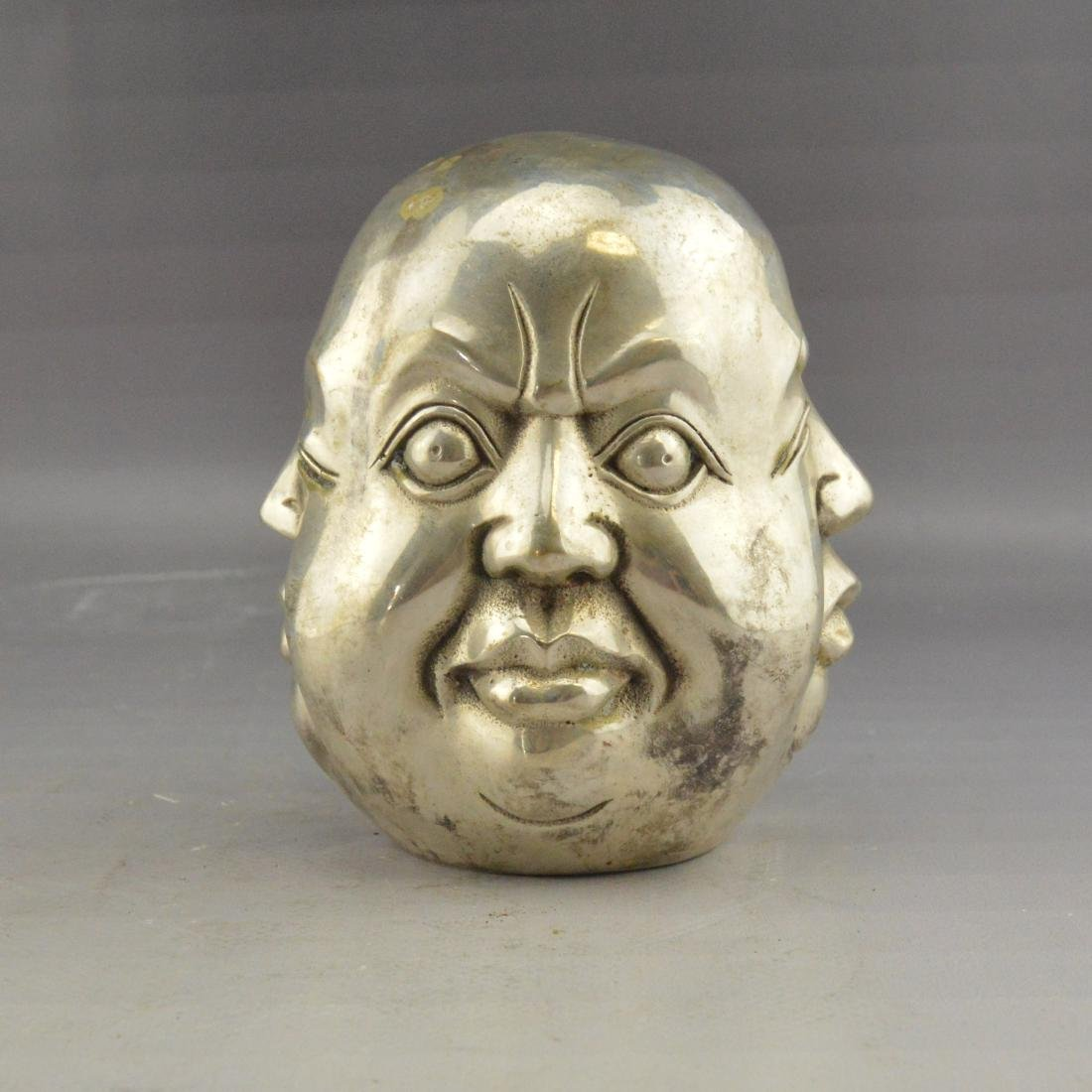 White Bronze Four-Faced Emotional Statue - 2