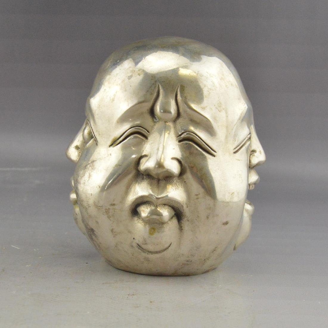 White Bronze Four-Faced Emotional Statue - 3