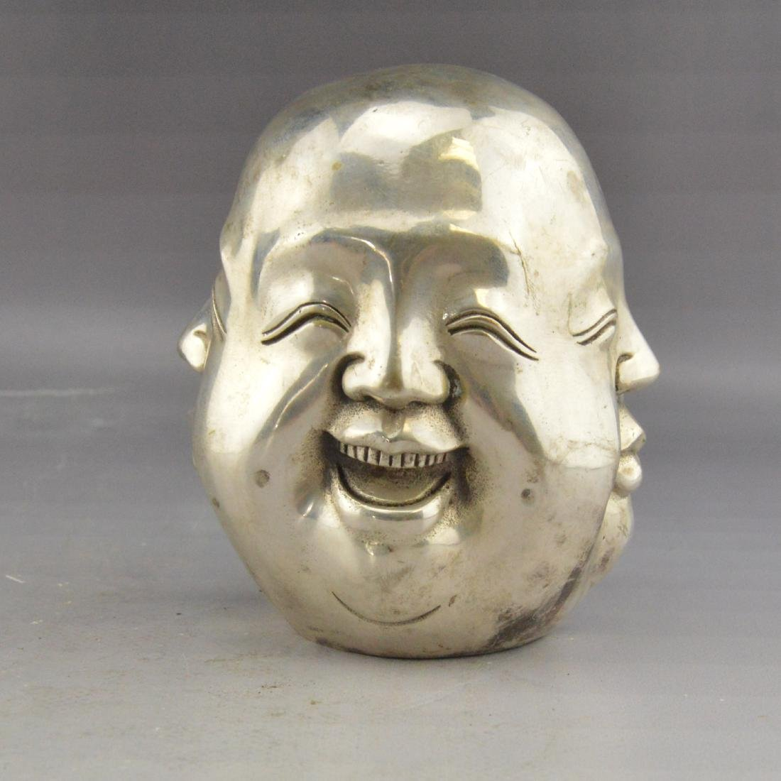 White Bronze Four-Faced Emotional Statue - 4