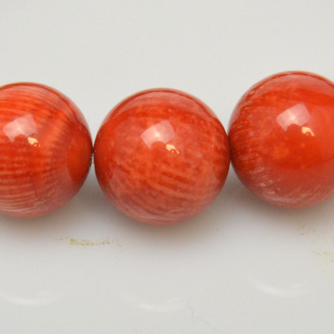 Dzi Bead Red Coral Bracelet - 3