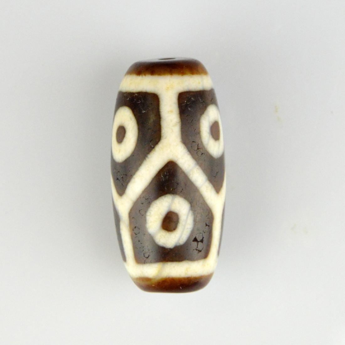 Nine Eye & Six Eyed Dzi Bead Pair - 3
