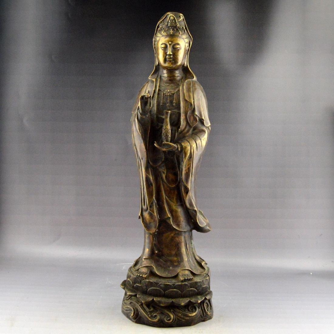 Bronze Guanyin Statue