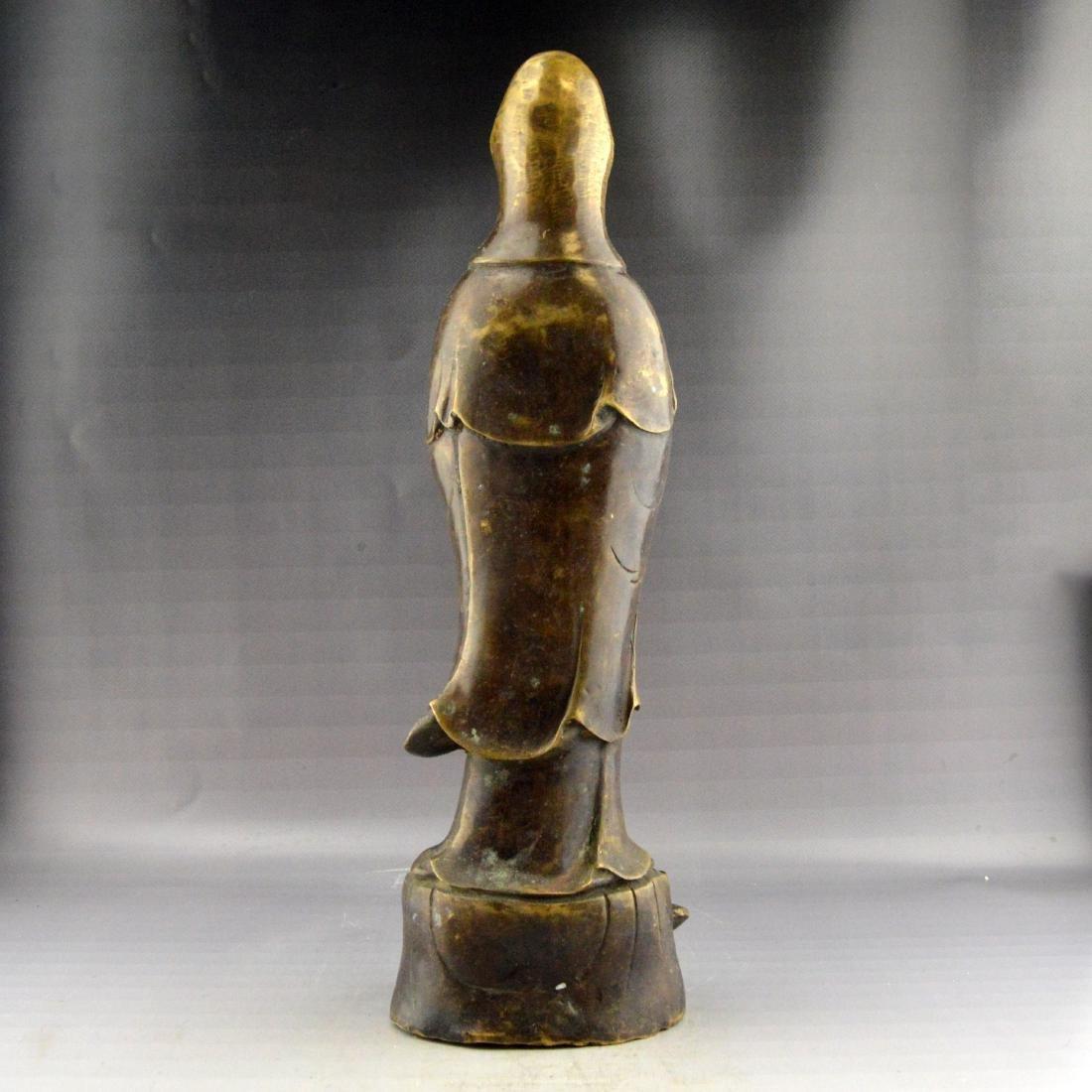 Bronze Guanyin Statue - 3