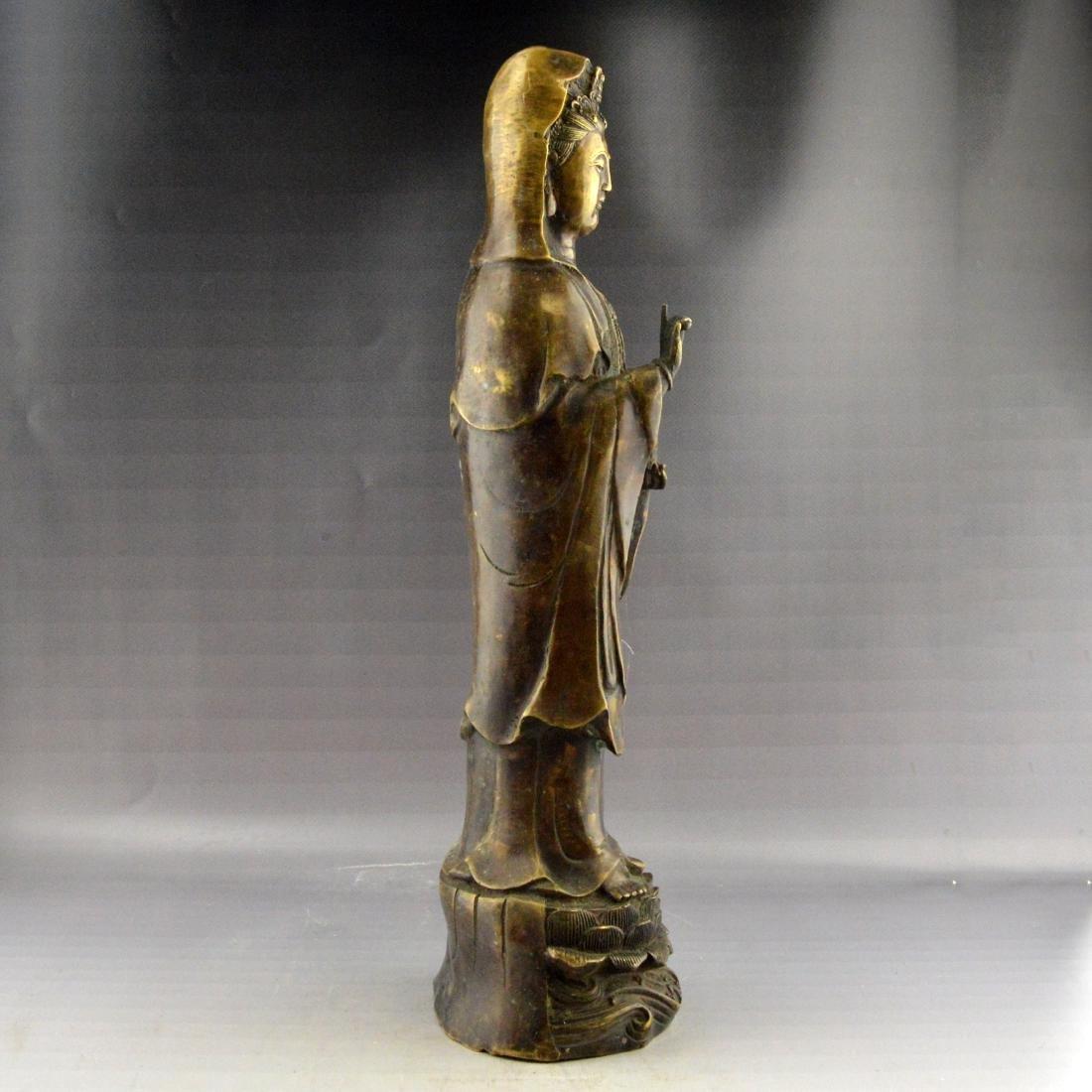 Bronze Guanyin Statue - 4