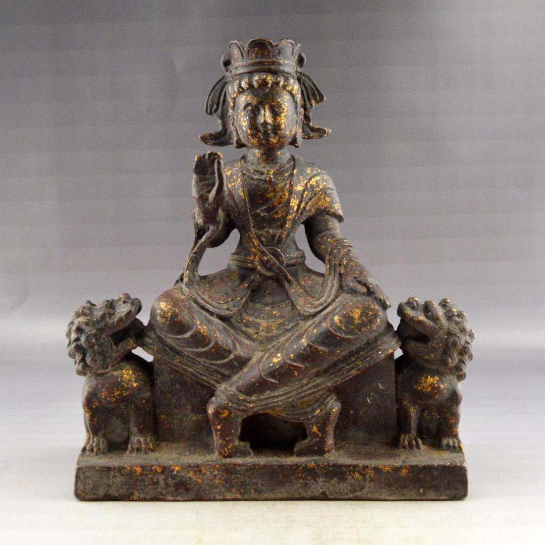 Ming Gilt Bronze Buddha Statue
