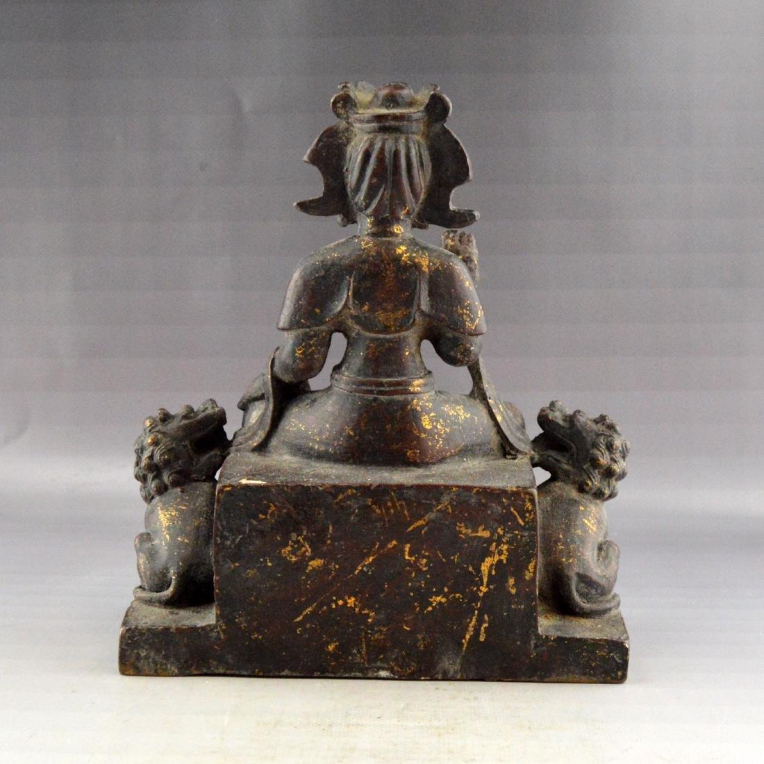 Ming Gilt Bronze Buddha Statue - 3