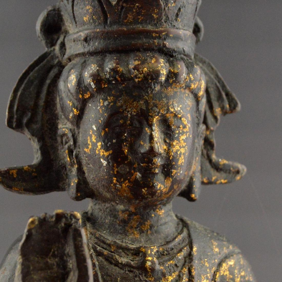 Ming Gilt Bronze Buddha Statue - 5