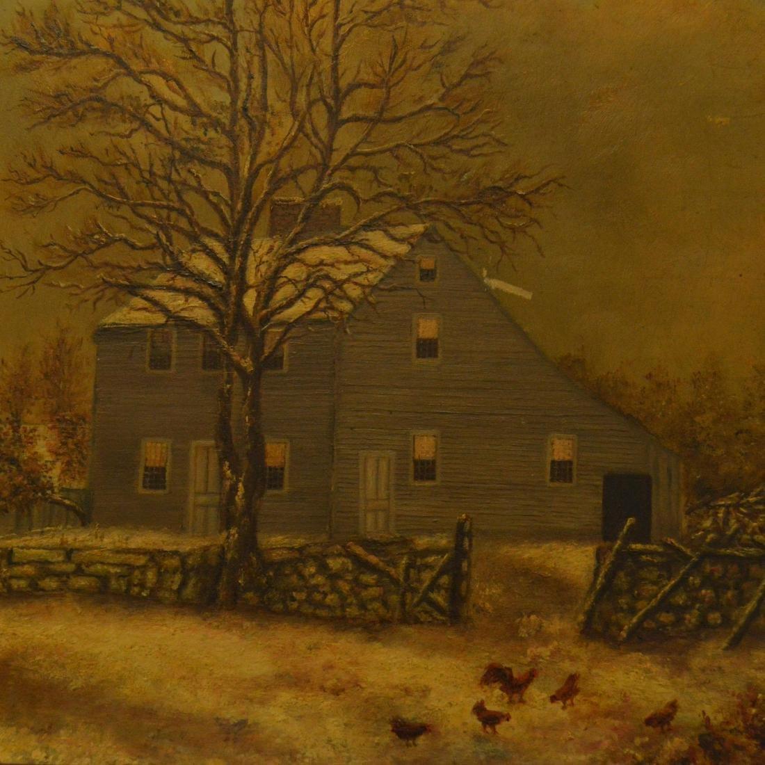 Old Framed Oil Painting - 2