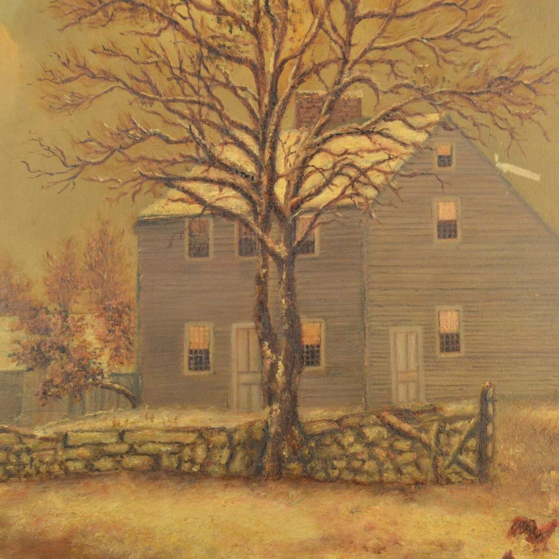 Old Framed Oil Painting - 3