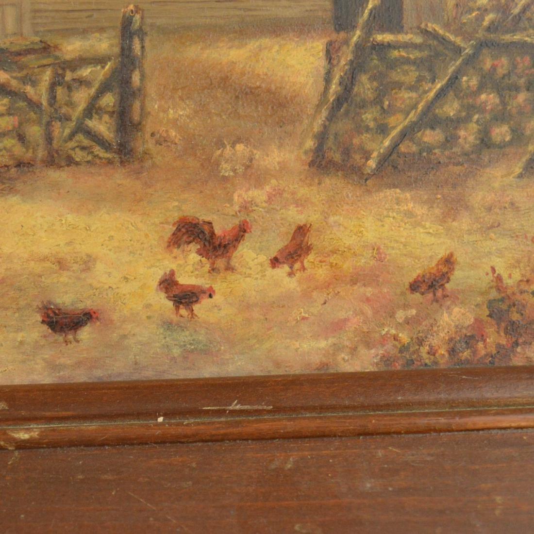 Old Framed Oil Painting - 4