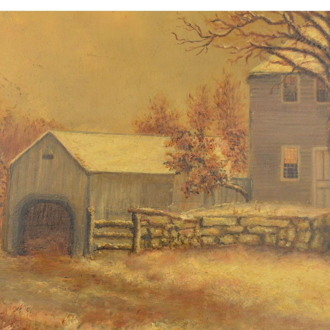 Old Framed Oil Painting - 5