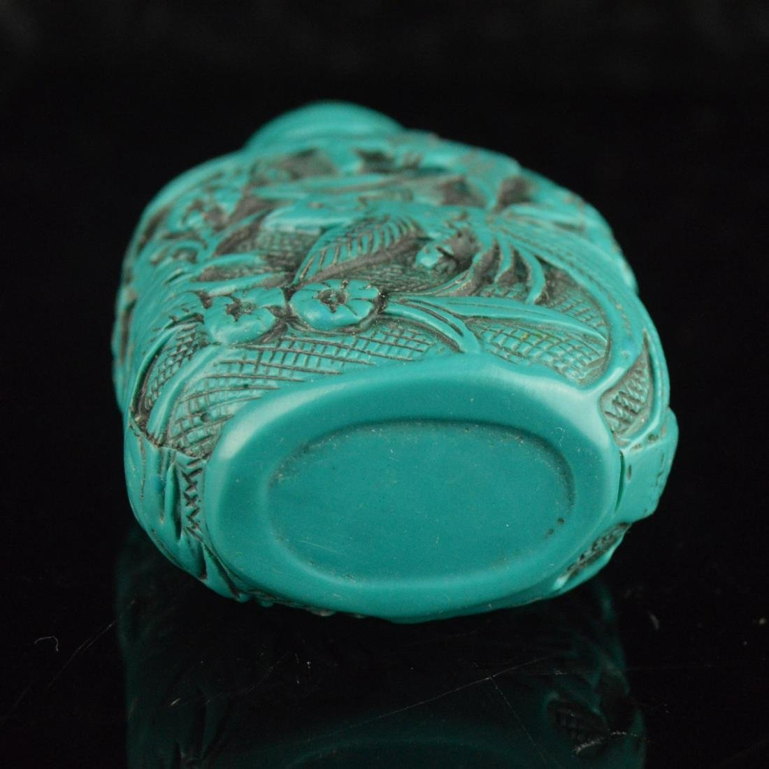 Lacquer Carved Snuff Bottle - 6