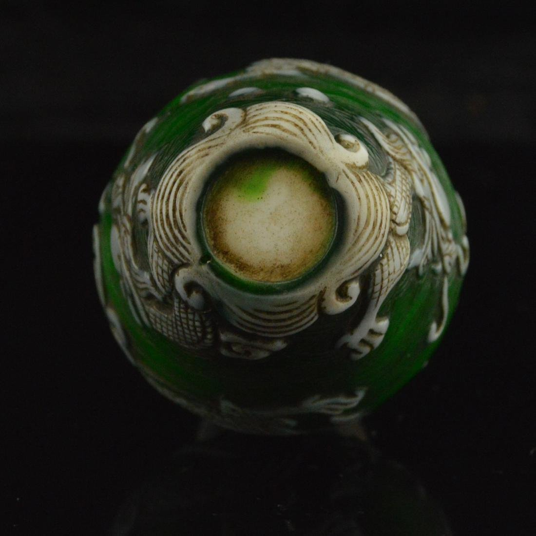 Liuli Carved Snuff Bottle - 6