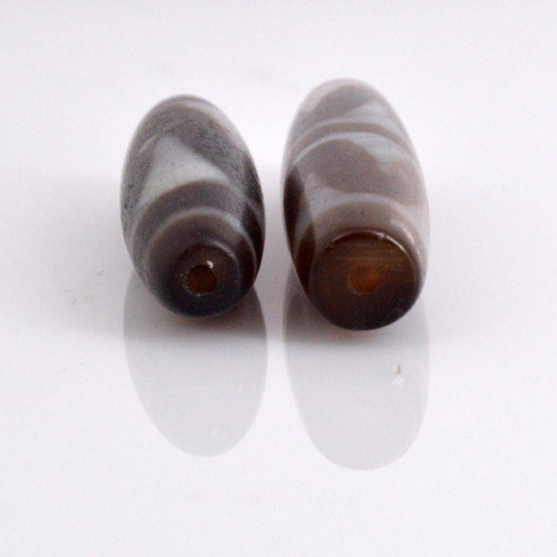 Tiger Tooth Dzi Bead Pair - 4