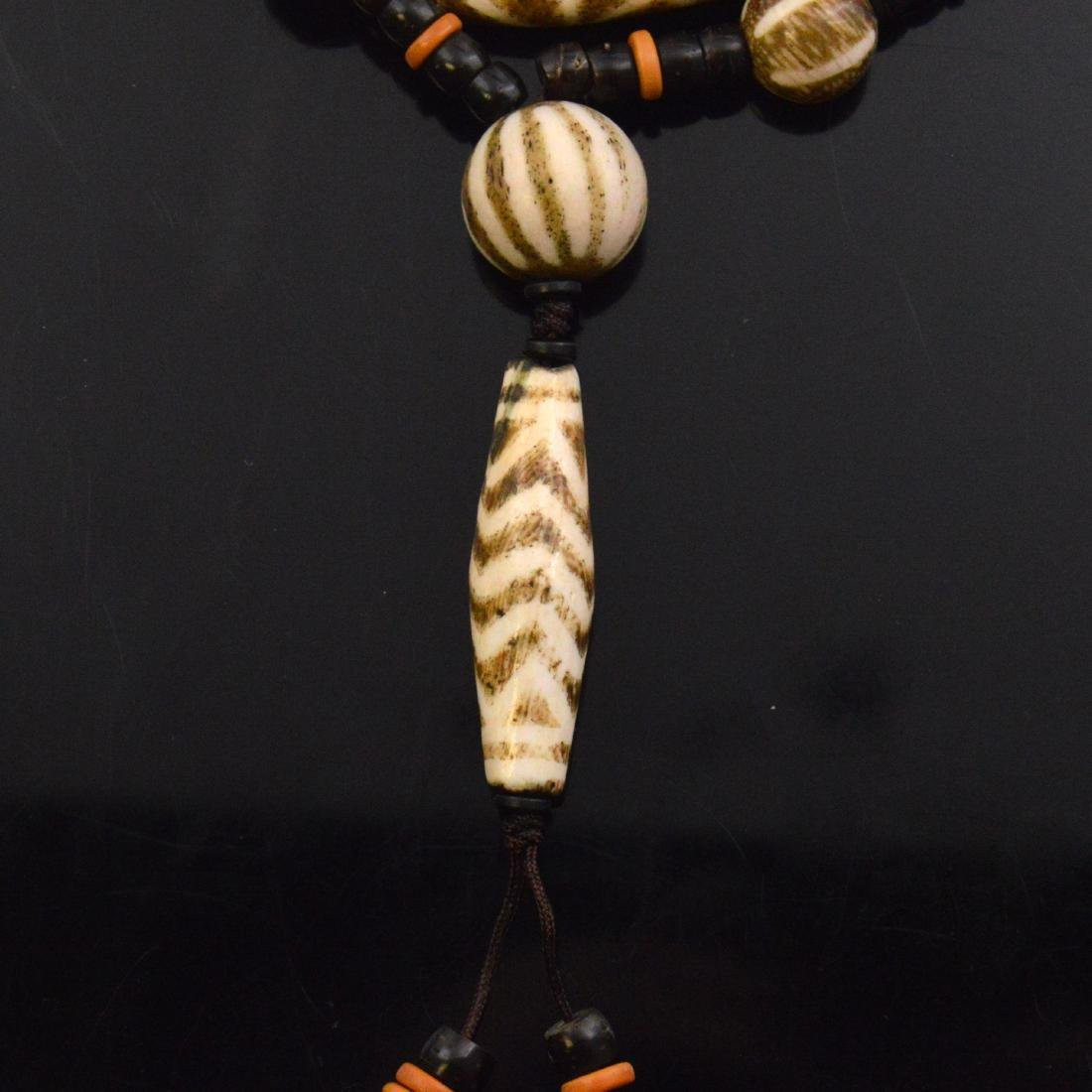 Old Bead Pendant necklace - 2
