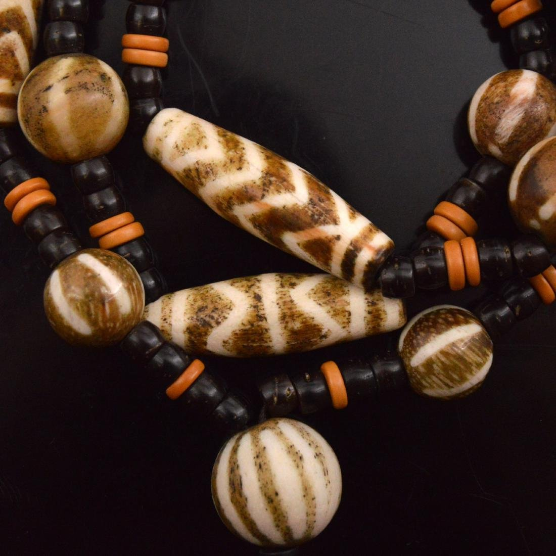 Old Bead Pendant necklace - 3