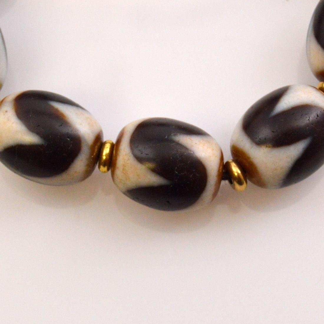 Tiger Tooth Dzi Bead Bracelet - 2