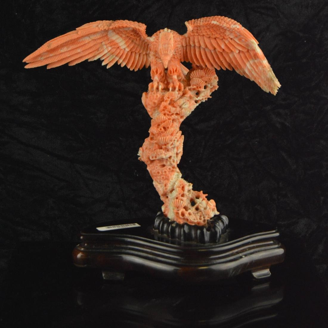 Old Natural AK Coral Eagle Figure
