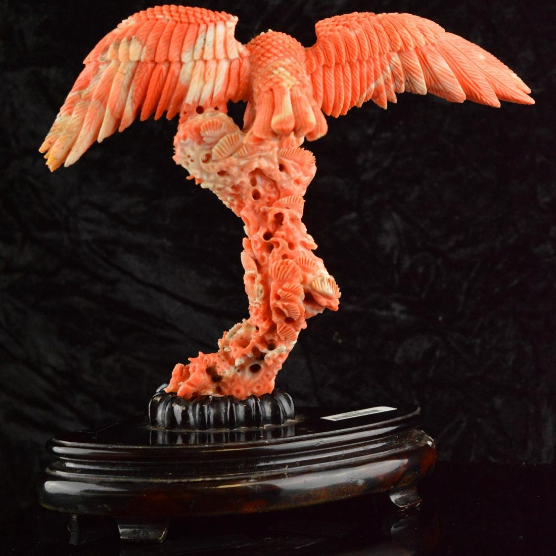 Old Natural AK Coral Eagle Figure - 3
