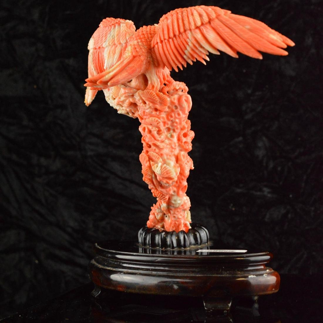 Old Natural AK Coral Eagle Figure - 4