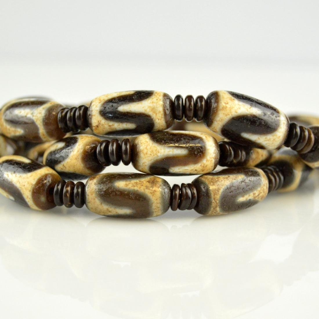 Tiger Tooth Dzi Bed Necklace - 4