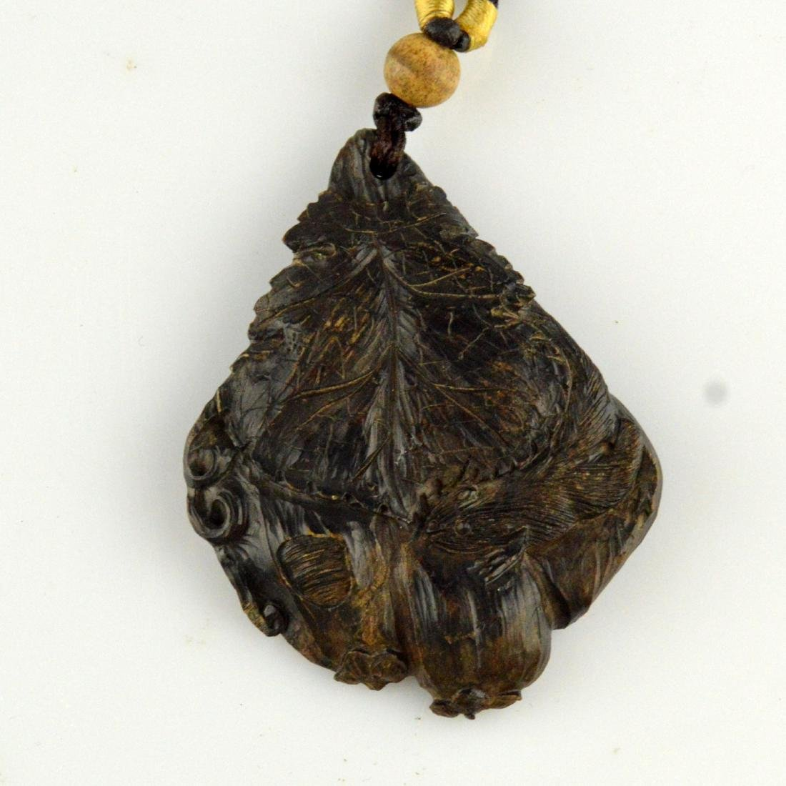 Natural Incense Wood Pendant Necklace - 2