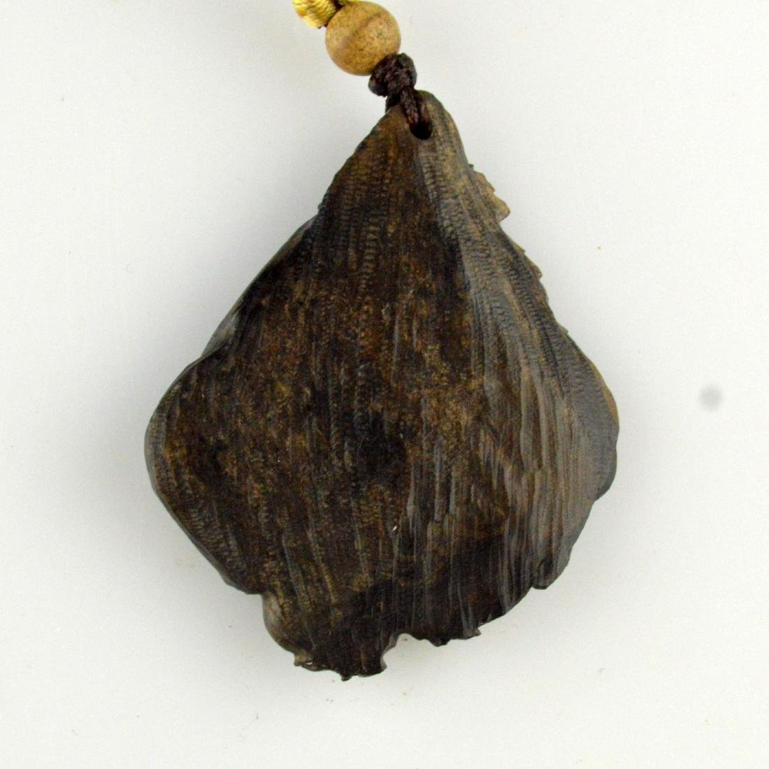 Natural Incense Wood Pendant Necklace - 3