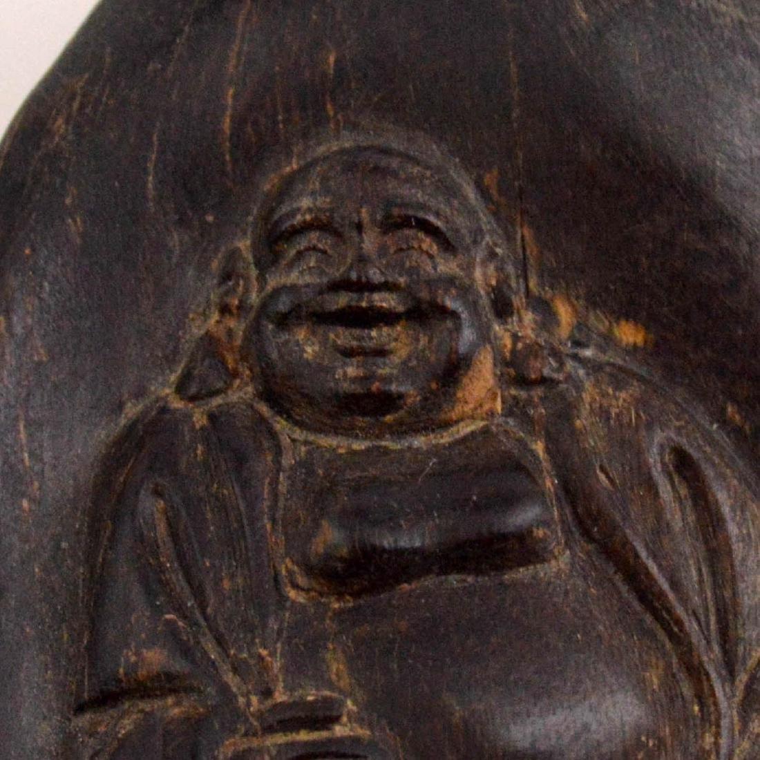 Natural Incense Wood Buddha Pendant - 3