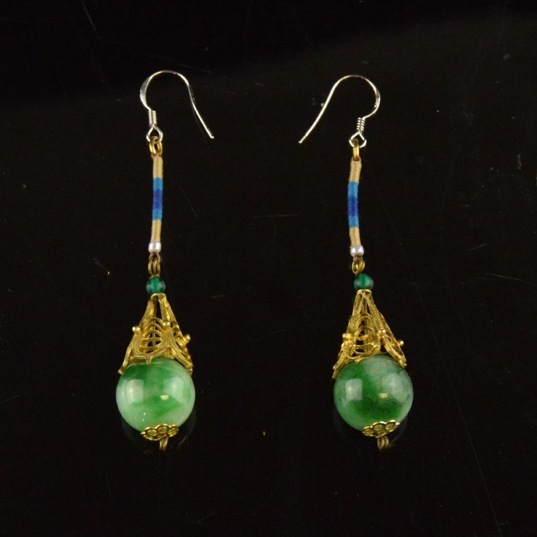 Old Jadeite Earring Pair