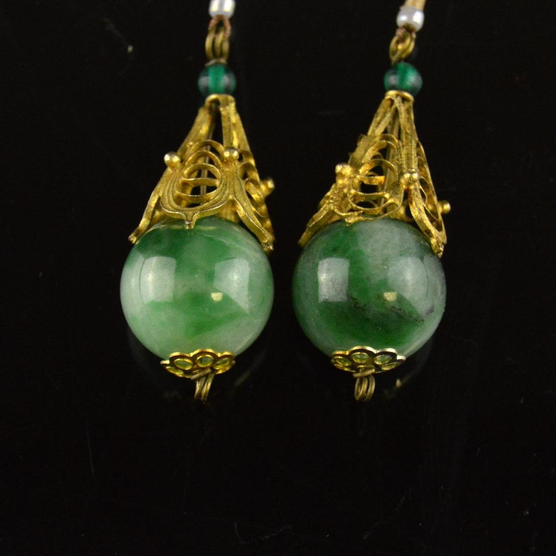 Old Jadeite Earring Pair - 2