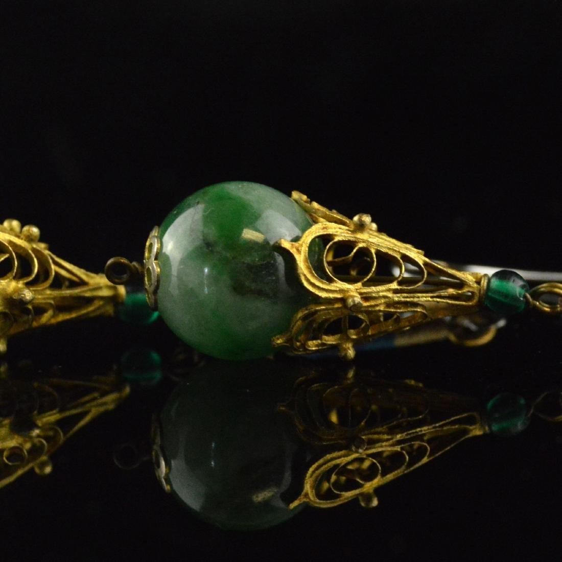 Old Jadeite Earring Pair - 3
