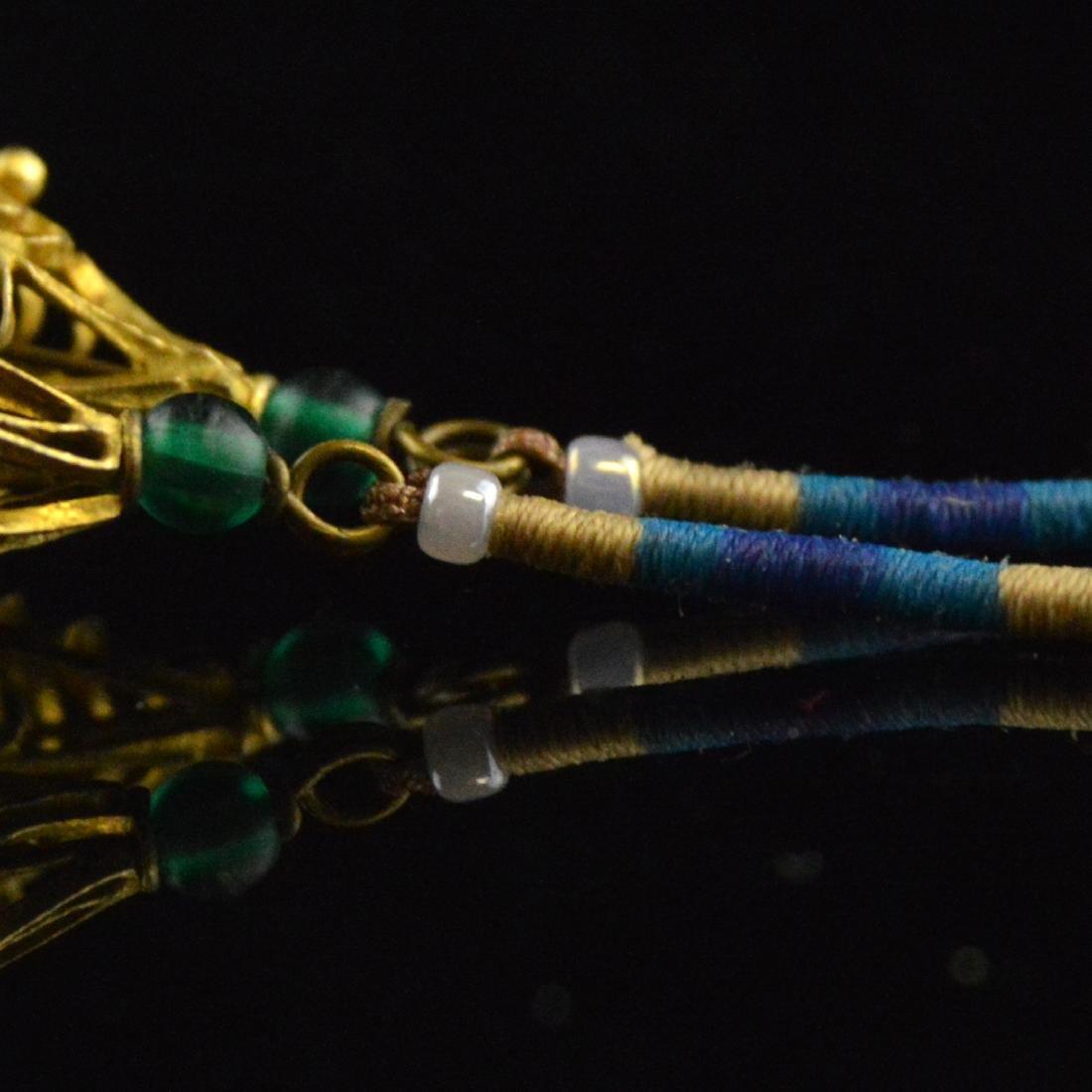 Old Jadeite Earring Pair - 4