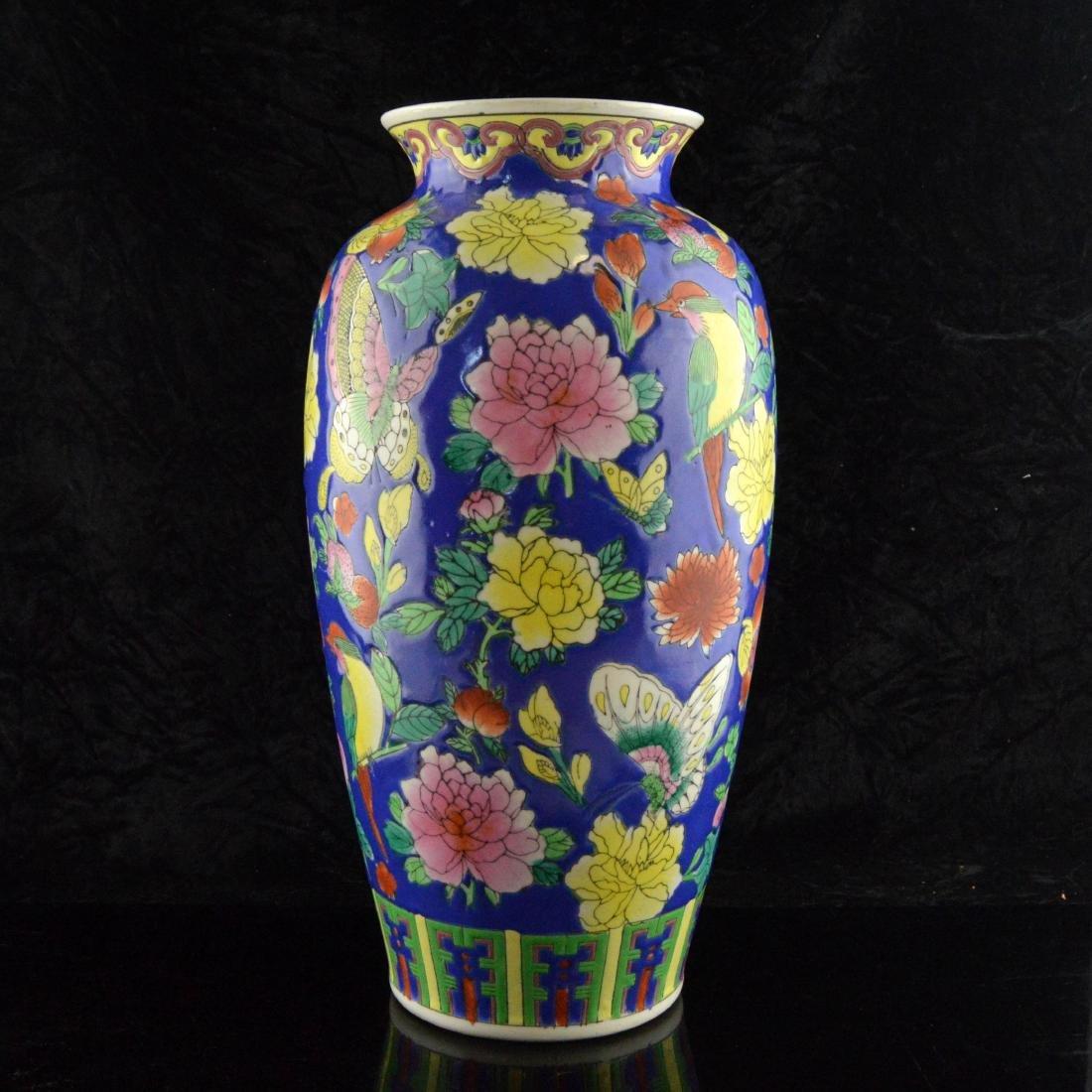 Fencai Porcelain Floral Vase