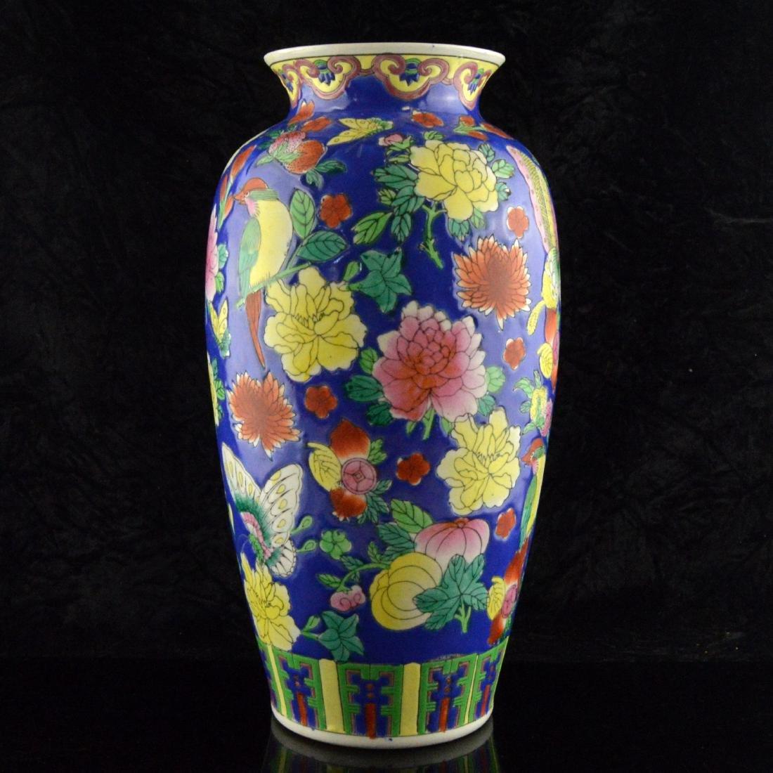 Fencai Porcelain Floral Vase - 2