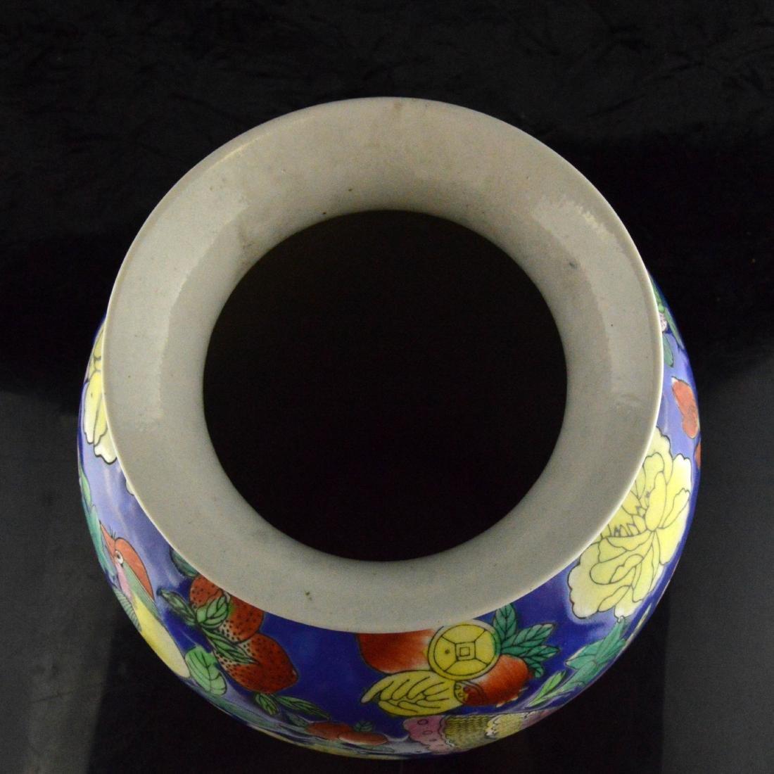 Fencai Porcelain Floral Vase - 4